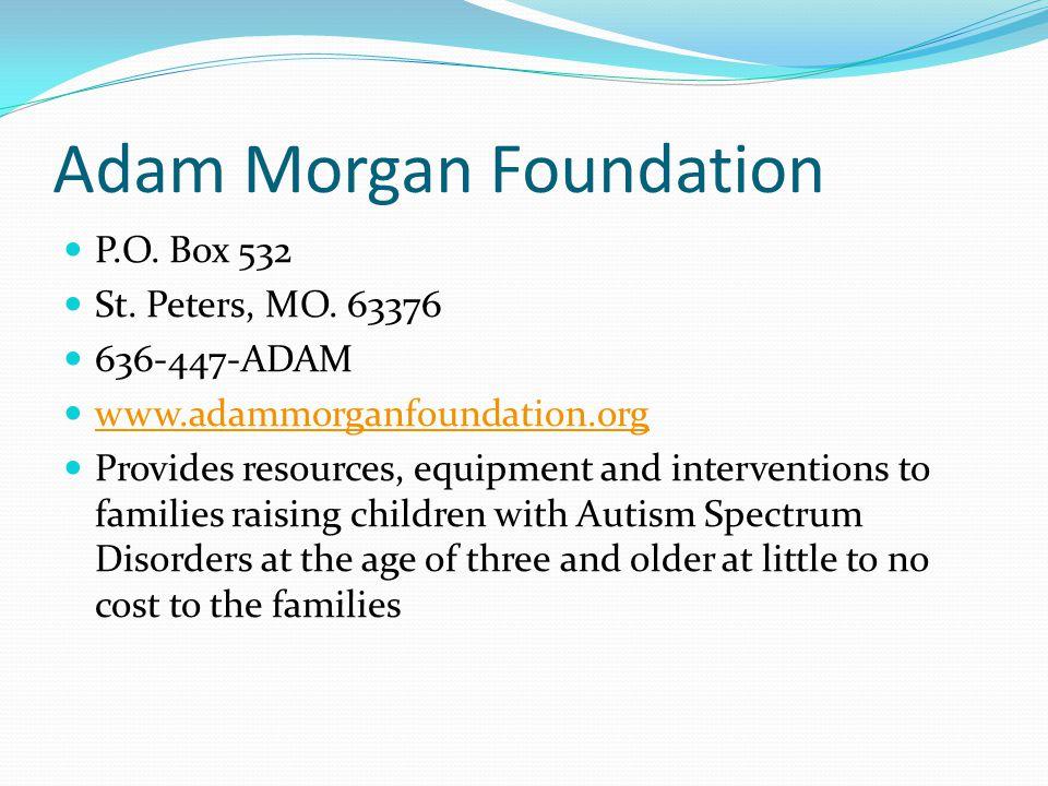 Adam Morgan Foundation