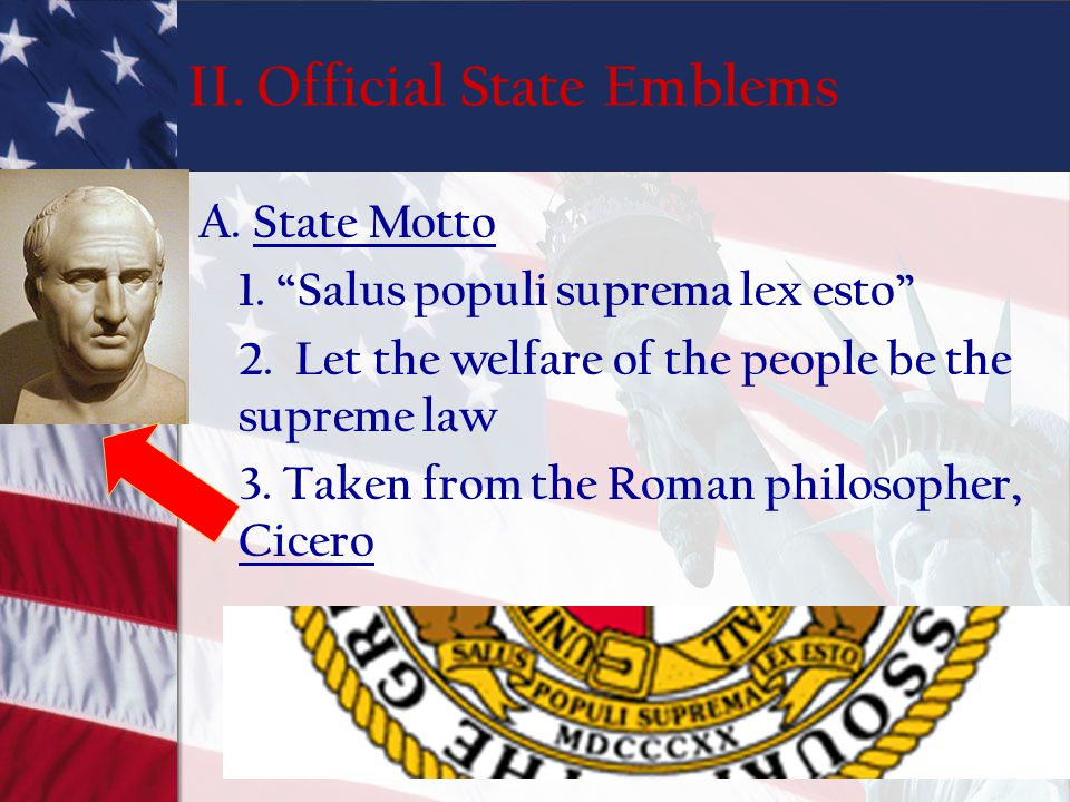 II. Official State Emblems
