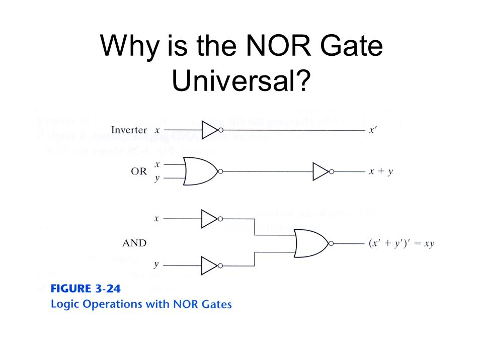 Why is the NOR Gate Universal