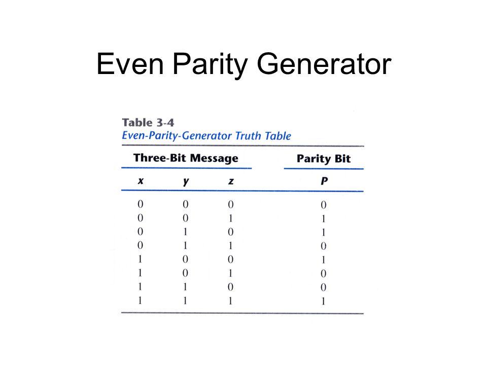 Even Parity Generator