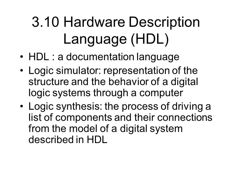 3.10 Hardware Description Language (HDL)