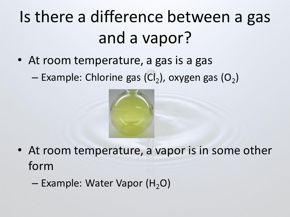 Is there a difference between a gas and a vapor