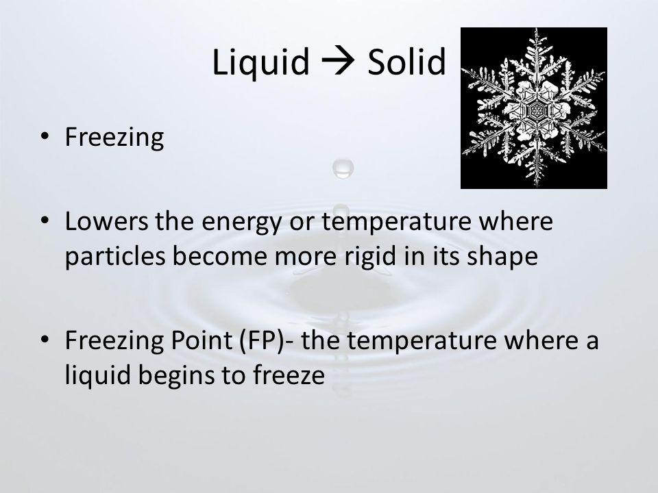Liquid  Solid Freezing