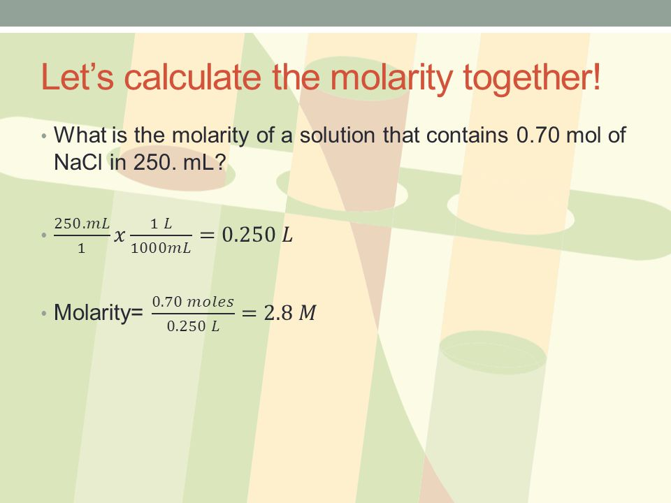 Let's calculate the molarity together!