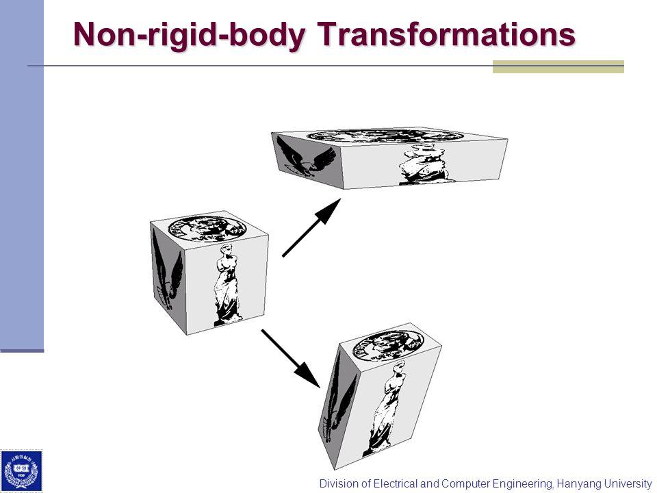 Non-rigid-body Transformations