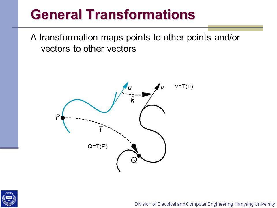 General Transformations