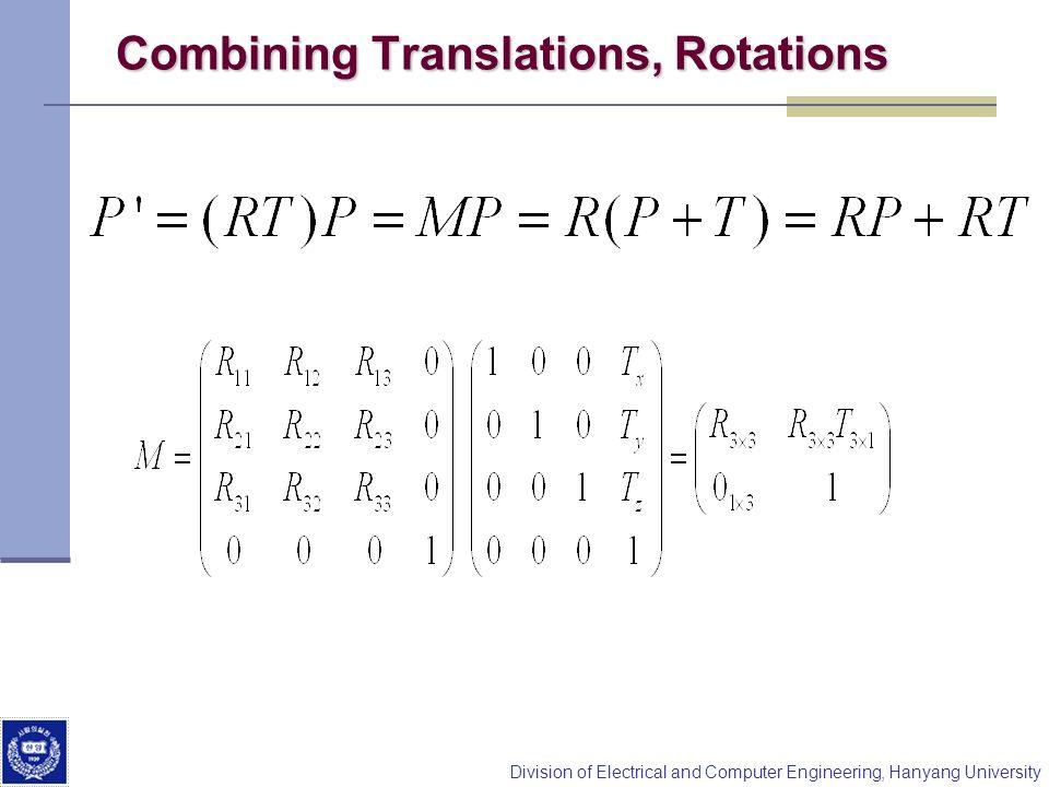Combining Translations, Rotations