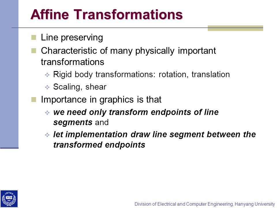 Affine Transformations