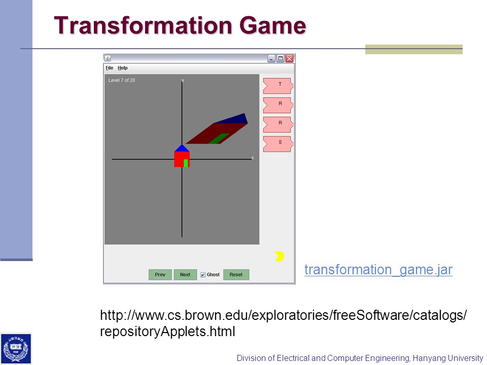 Transformation Game transformation_game.jar