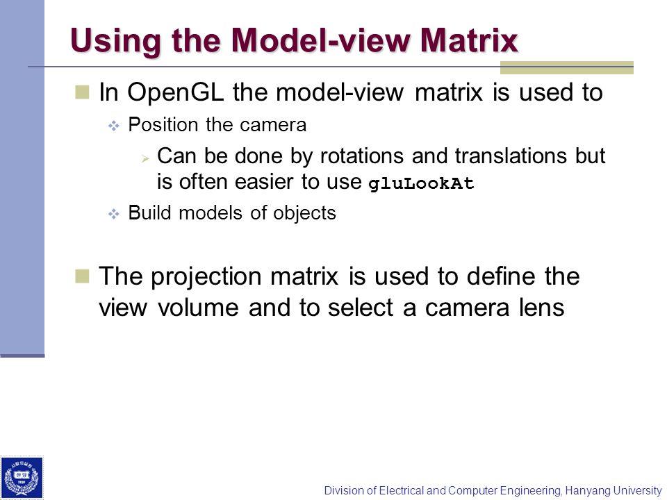 Using the Model-view Matrix