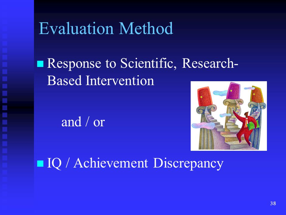 Evaluation Method Response to Scientific, Research-Based Intervention