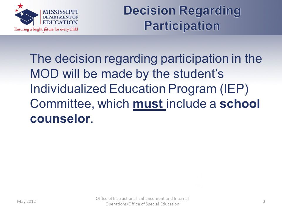 Decision Regarding Participation