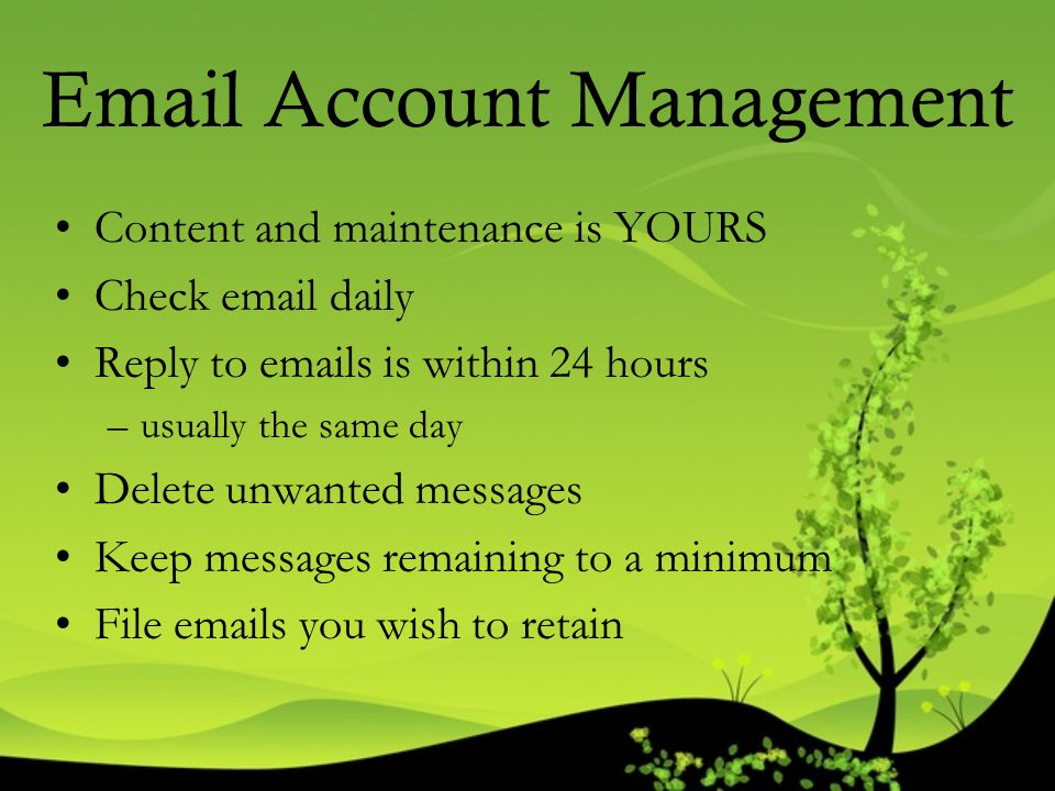Email Account Management