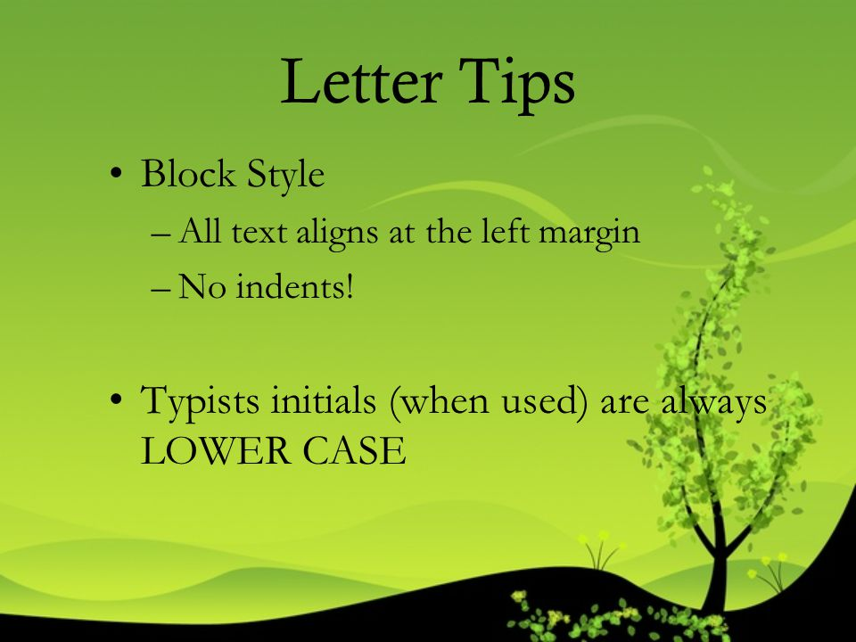 Letter Tips Block Style