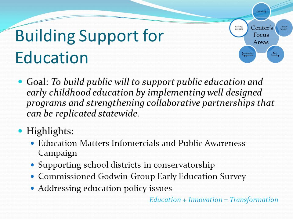 Building Support for Education