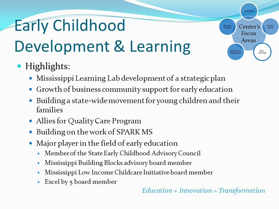Early Childhood Development & Learning