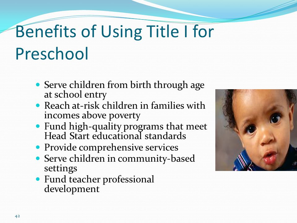 Benefits of Using Title I for Preschool