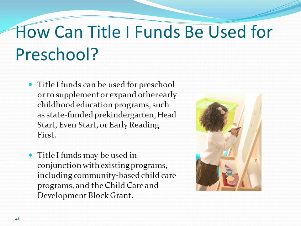 How Can Title I Funds Be Used for Preschool