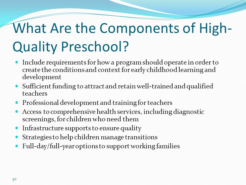 What Are the Components of High-Quality Preschool