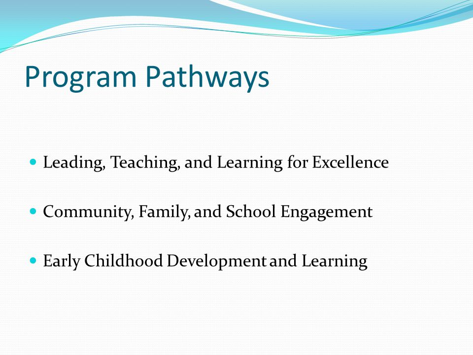 Program Pathways Leading, Teaching, and Learning for Excellence