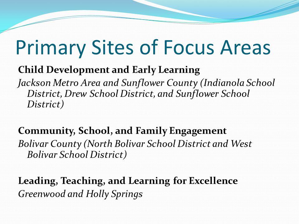 Primary Sites of Focus Areas