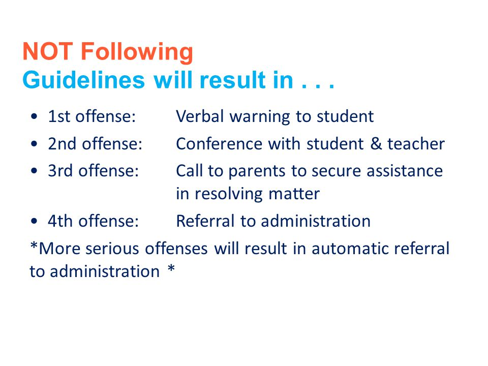 Guidelines will result in . . .