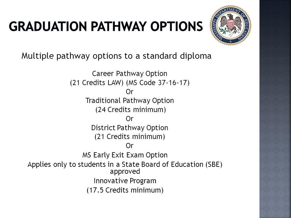 Graduation pathway options