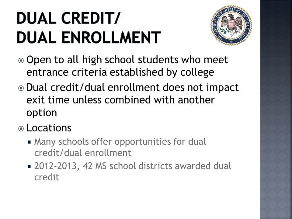 Dual Credit/ Dual Enrollment