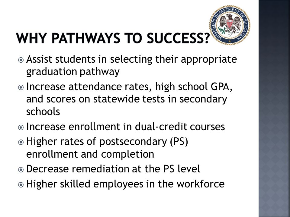 Why Pathways to success