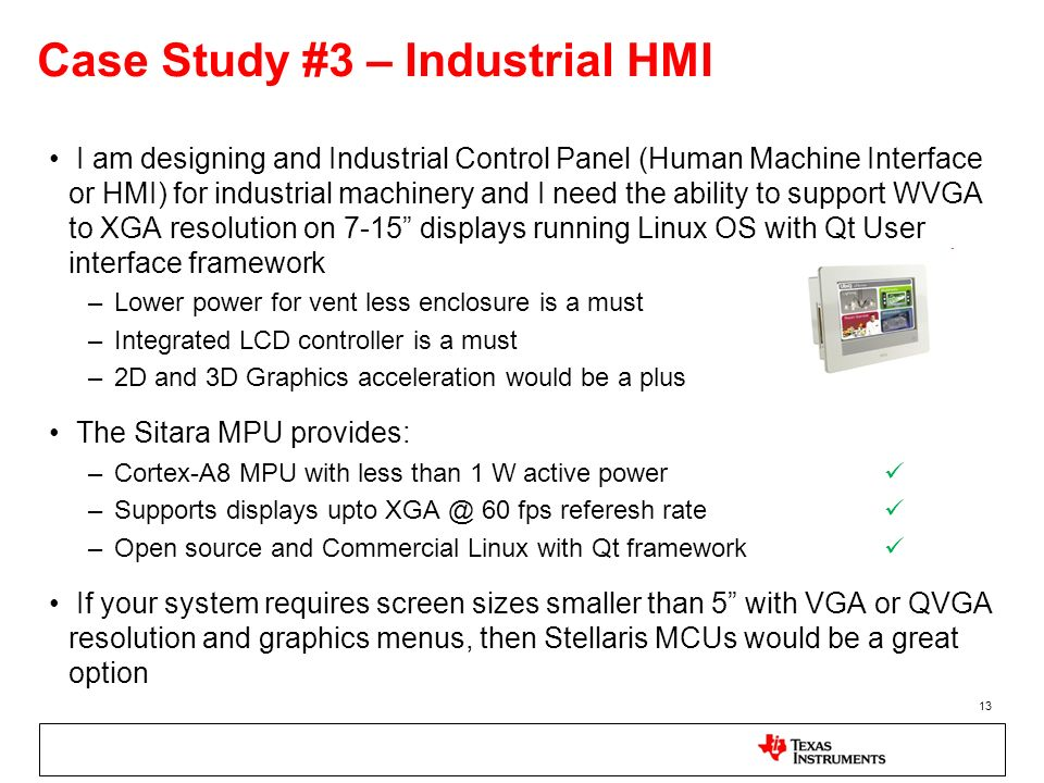 Case Study #3 – Industrial HMI