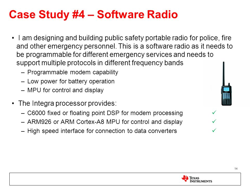 Case Study #4 – Software Radio