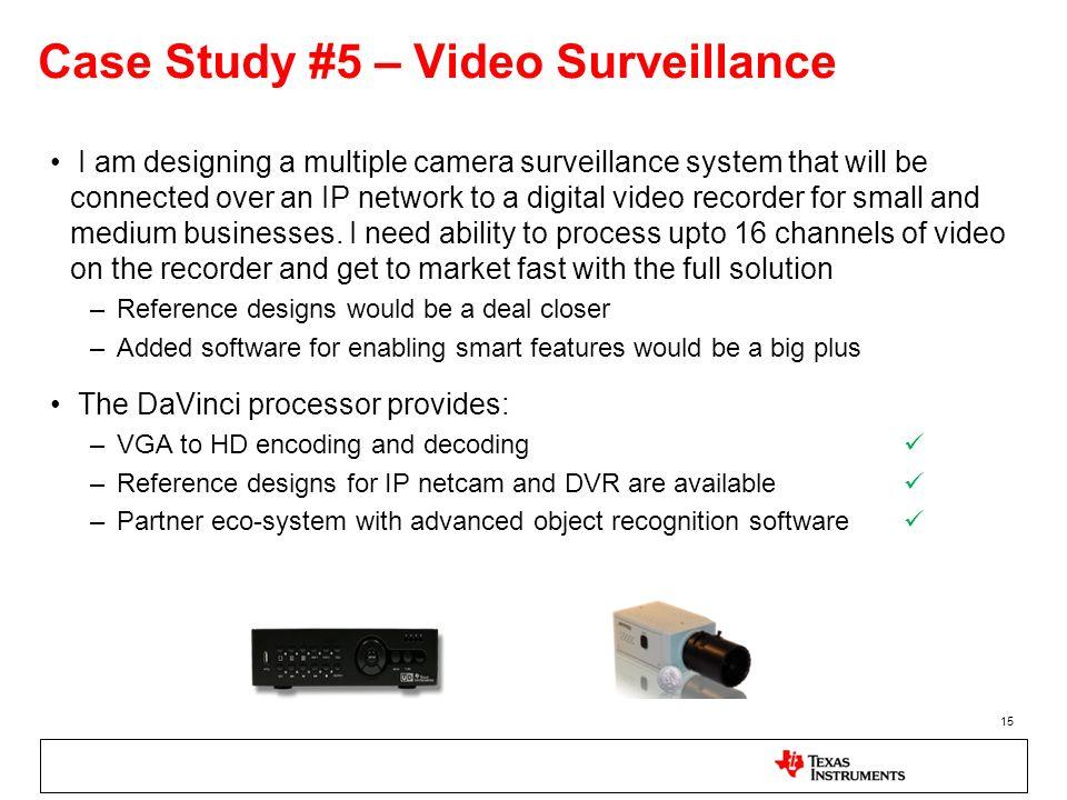 Case Study #5 – Video Surveillance