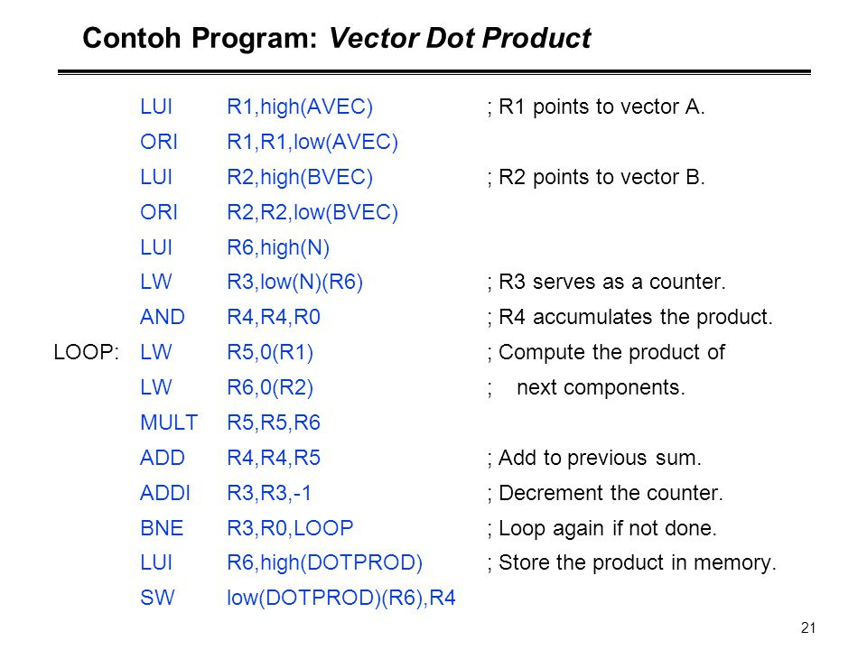 Contoh Program: Vector Dot Product