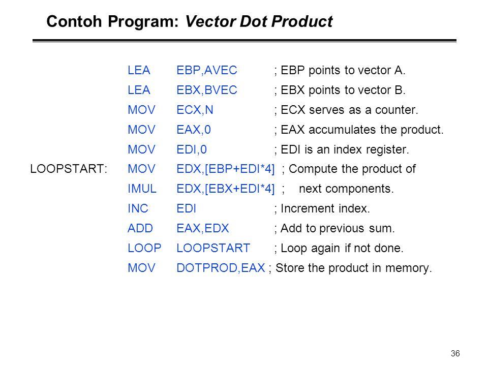 Contoh Program: Vector Dot Product