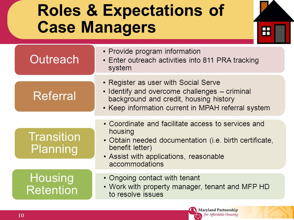 Roles & Expectations of Case Managers