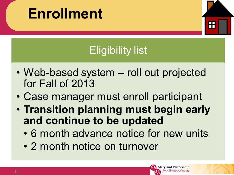 Enrollment Jennifer Eligibility list