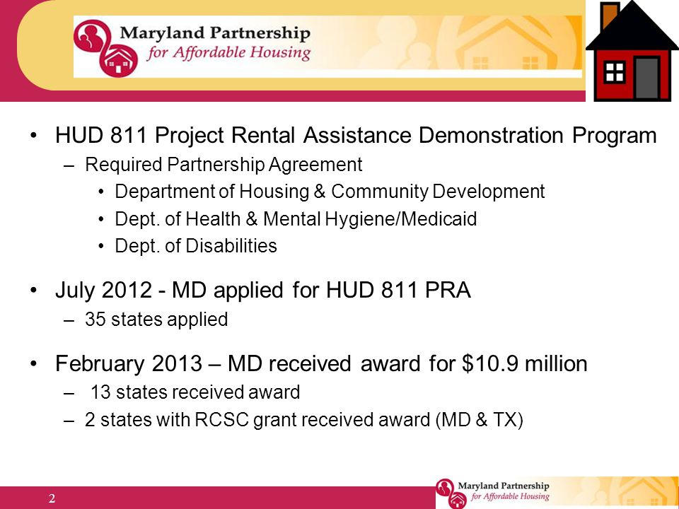 HUD 811 Project Rental Assistance Demonstration Program