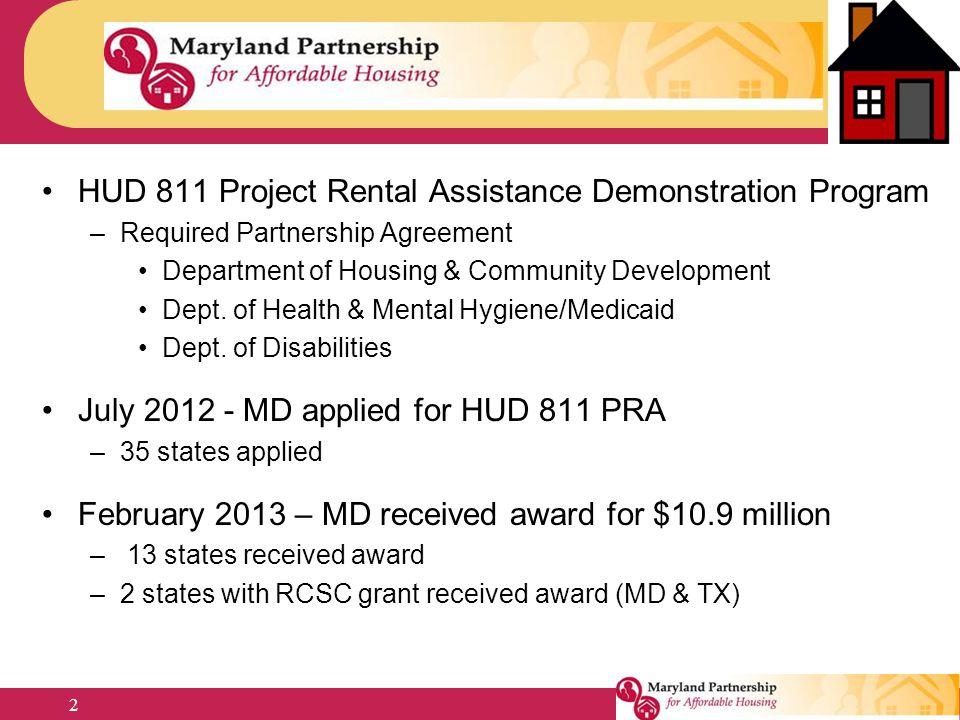 HUD 811 Project Rental Assistance Demonstration Program