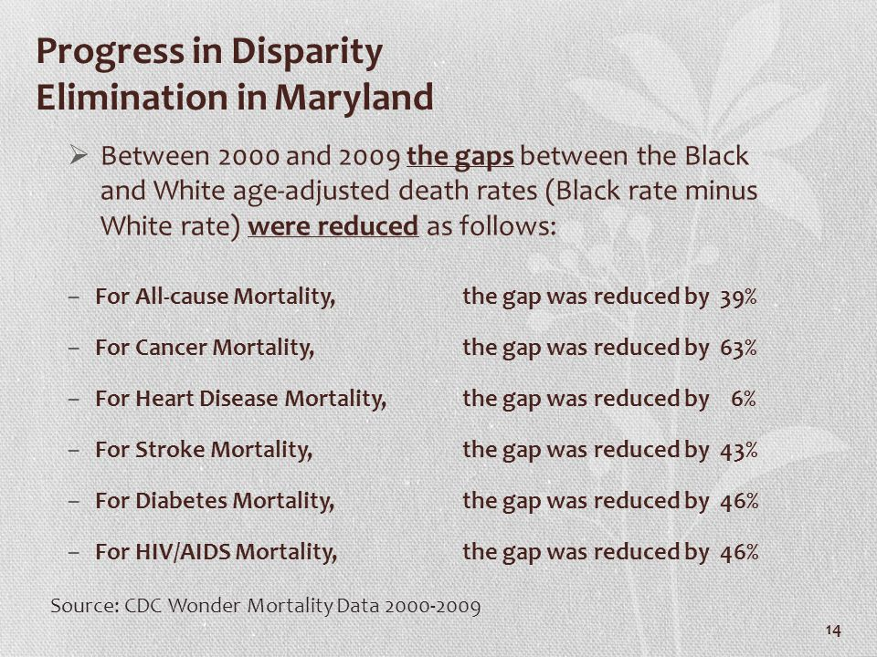 Progress in Disparity Elimination in Maryland