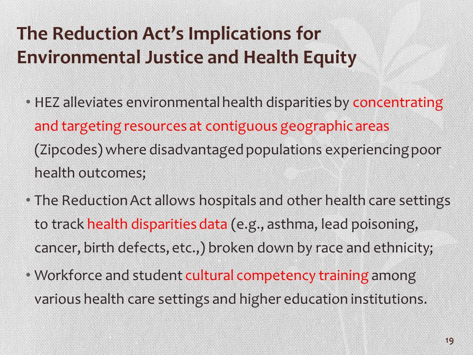 The Reduction Act's Implications for Environmental Justice and Health Equity