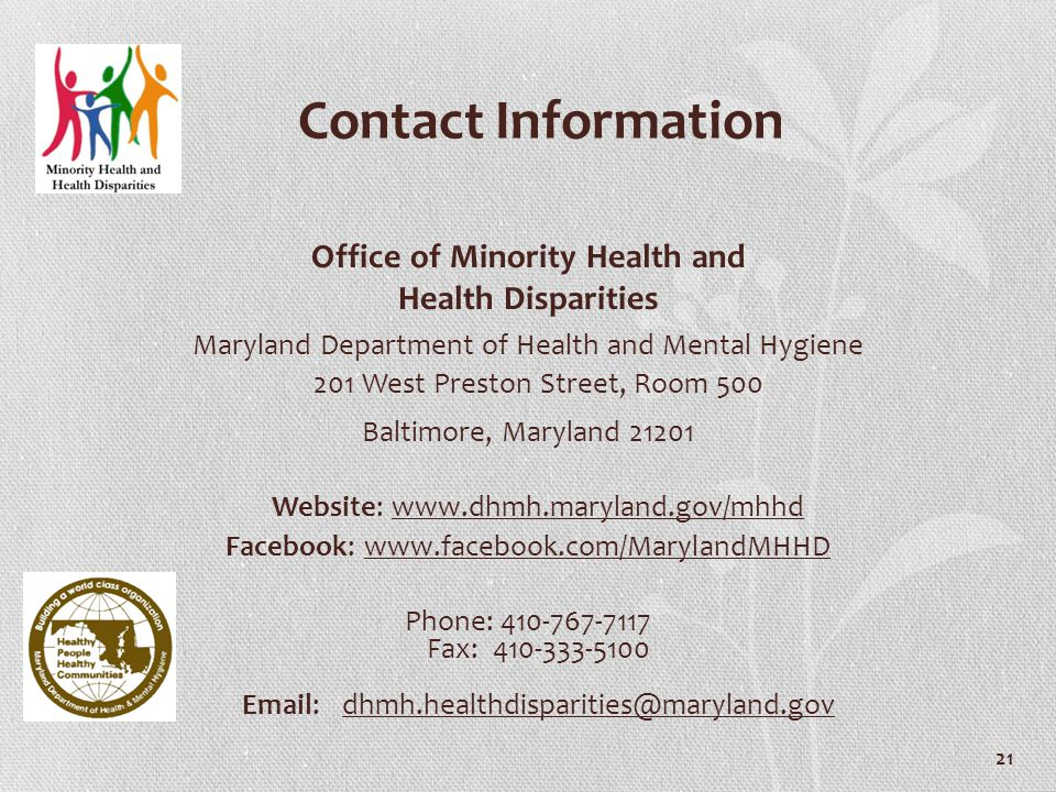Office of Minority Health and