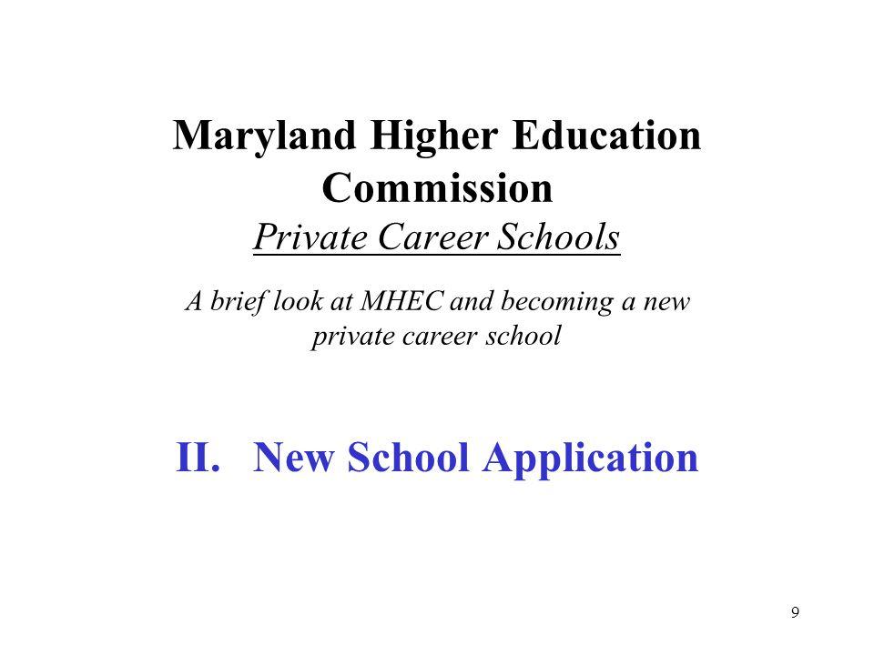 II. New School Application