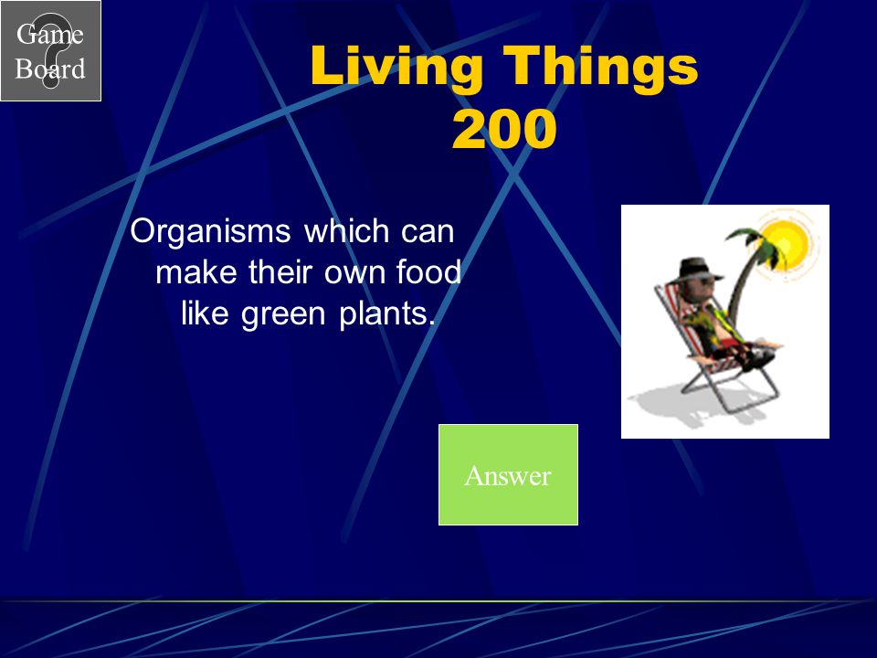 Organisms which can make their own food like green plants.