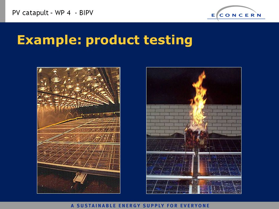 Example: product testing