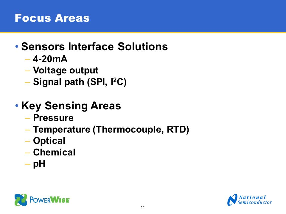 Sensors Interface Solutions