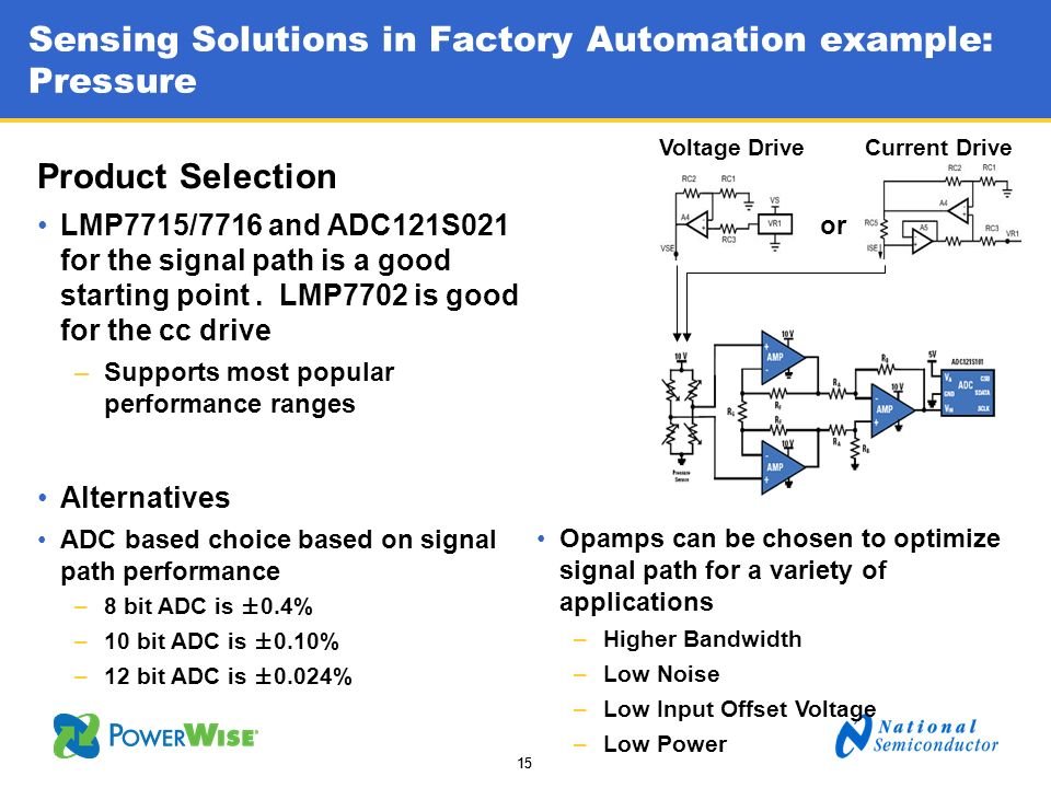 Sensing Solutions in Factory Automation example: Pressure