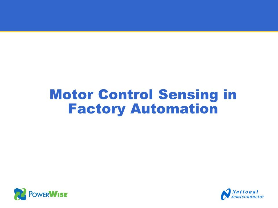 Motor Control Sensing in Factory Automation