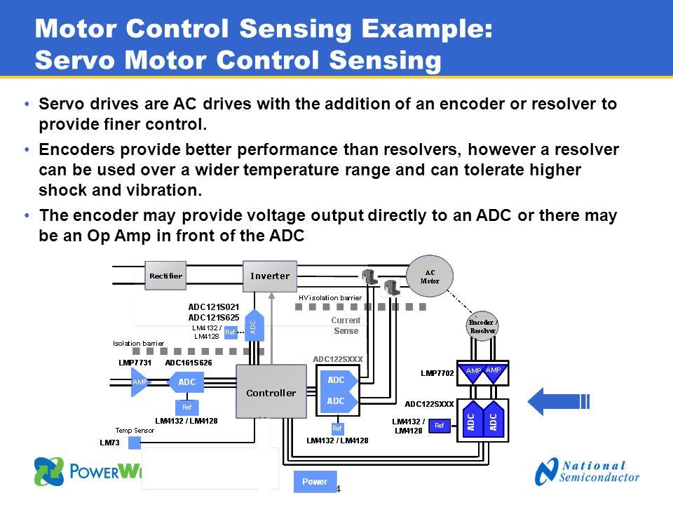 Motor Control Sensing Example: Servo Motor Control Sensing