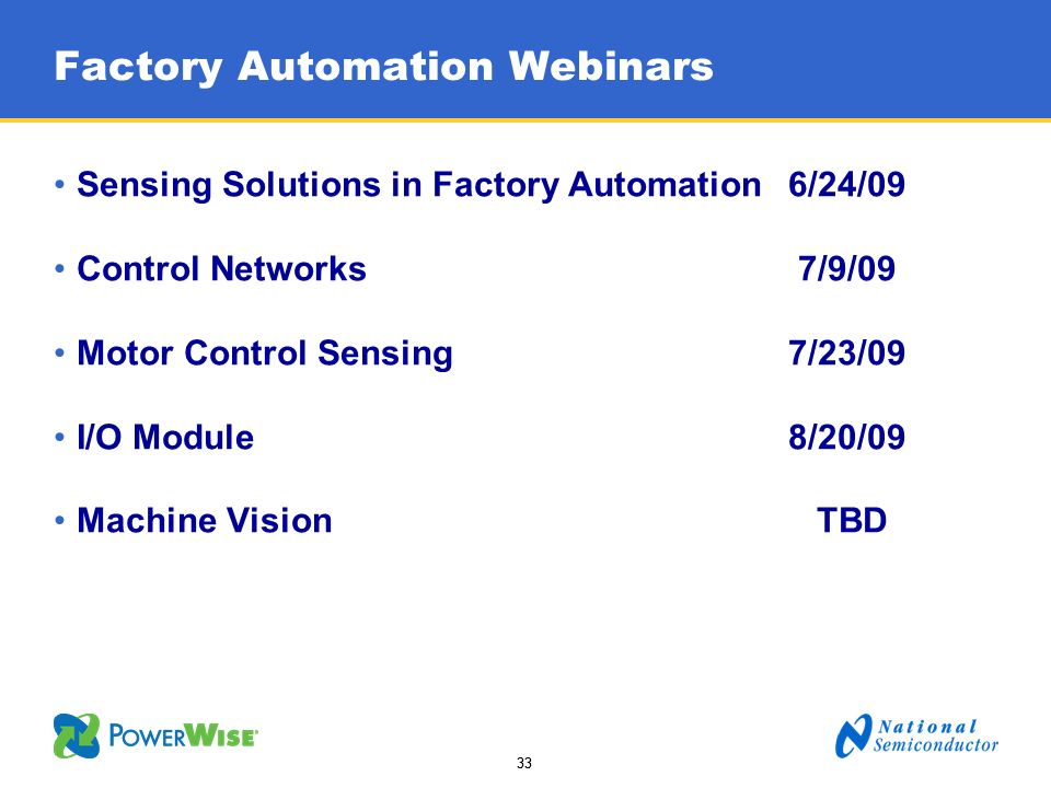 Factory Automation Webinars