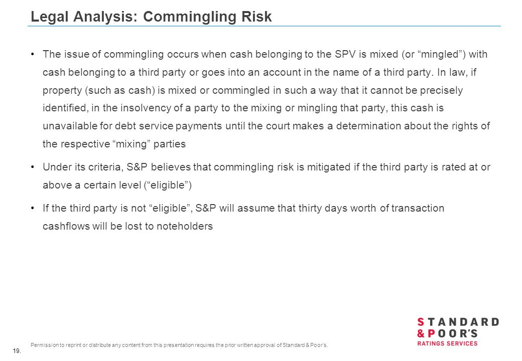Legal Analysis: Commingling Risk